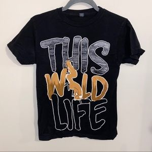 """""""This wild life"""""""" band graphic tee"""